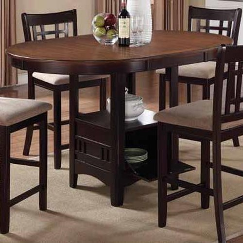 Coaster Lavon Casual Counter Height Table with Storage Base