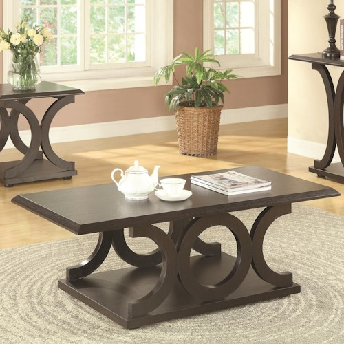Coaster 703140 C-Shaped Coffee Table