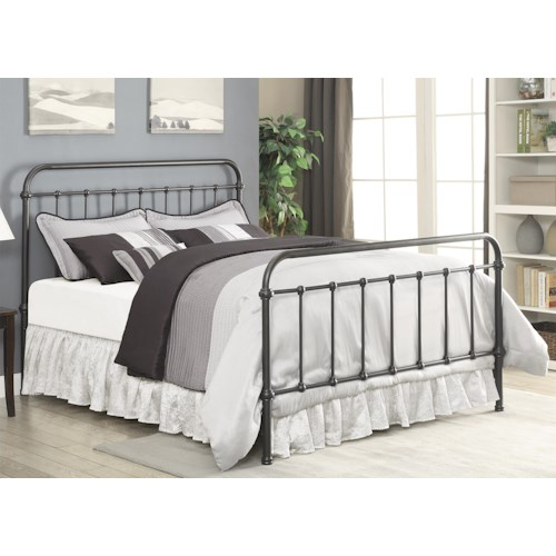 Coaster Livingston Transitional California King Metal Bed
