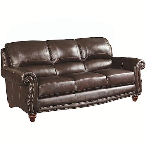 Coaster Lockhart Traditional Sofa with Nail Head Trim