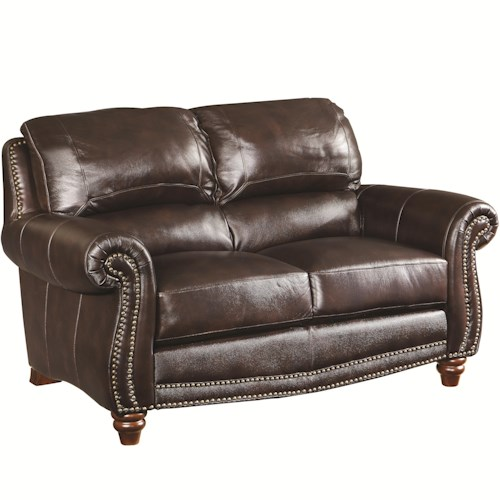 Coaster Lockhart Traditional Love Seat with Nail Head Trim