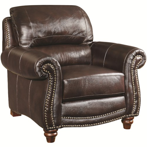 Coaster Lockhart Traditional Chair with Nail Head Trim