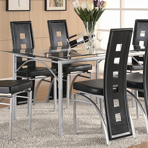 Coaster Los Feliz Contemporary Metal Dinner Table