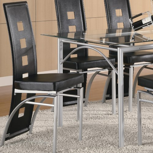 Coaster Los Feliz Black Metal Dining Chair
