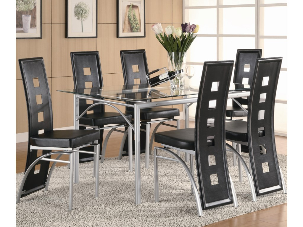 Dining Chair (Black) Shown with Dining Table