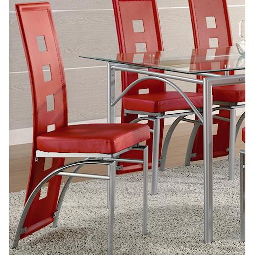 Coaster Los Feliz Red Contemporary Dining Chair