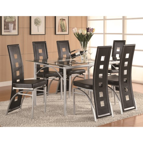 Coaster Los Feliz Contemporary Counter Height Dining Set