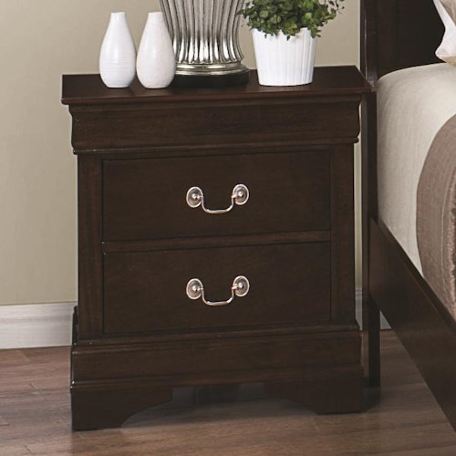 Coaster Louis Philippe 202 Night Stand with 2 Drawers