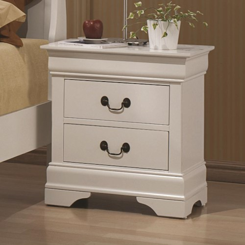 Coaster Louis Philippe 204 2 Drawer Night Stand