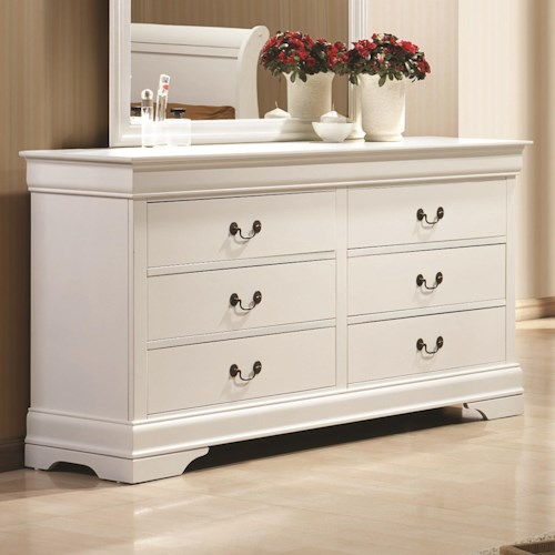 Coaster Louis Philippe 204 6 Drawer Dresser