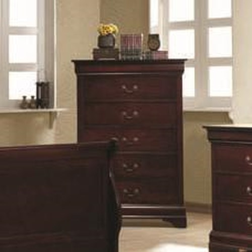 Coaster Louis Philippe 5 Drawer Chest
