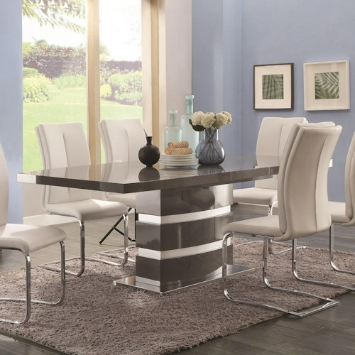 Coaster Lowry Contemporary Dining Table with Leaf