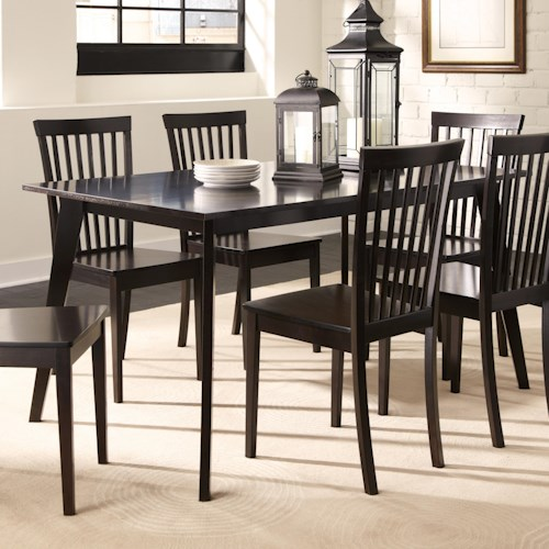 Coaster Ludwin Rectangular Dining Table with Angled Legs
