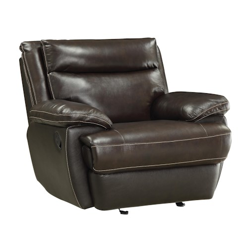 Coaster MacPherson Casual Leather Match Glider Recliner
