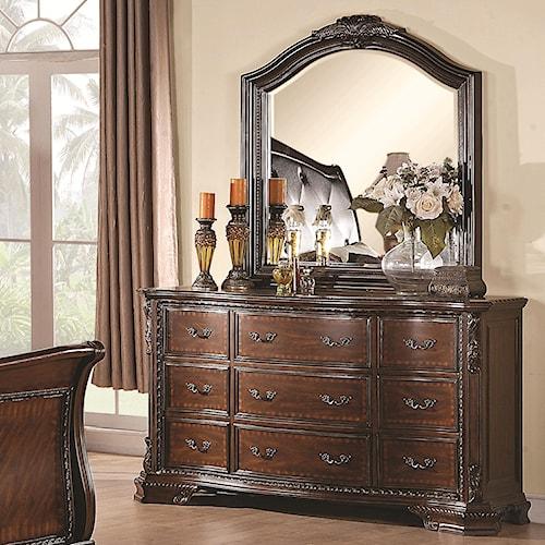 Coaster Maddison Drawer Dresser with Mirror