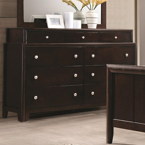 Coaster Madison Dresser with Nine Dovetail Drawers