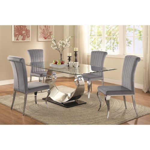 Coaster Manessier Contemporary Table and Chair Set