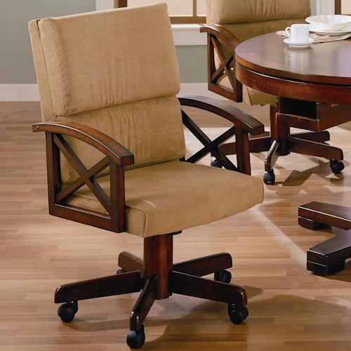 Coaster Marietta Upholstered Arm Game Chair