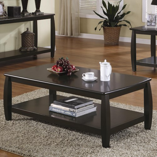 Coaster Marina Coffee Table with 1 Shelf