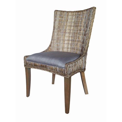 Coaster Matisse Country Cottage Woven Dining Chair with Cushioned Seat