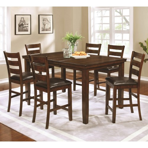 Coaster Maxwell Counter Height Table & Chair Set