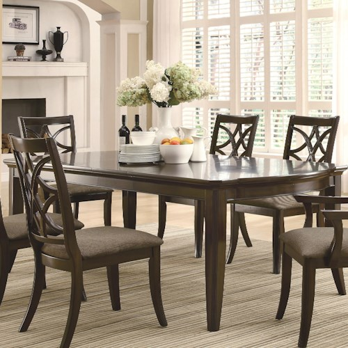 Coaster Meredith Dining Leg Table w/ Leaf Extensions