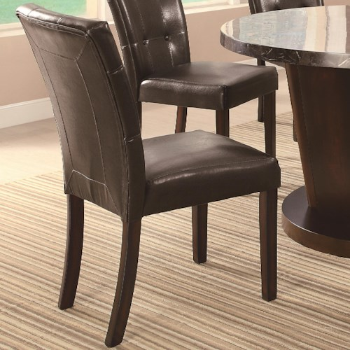 Coaster Milton Dining Side Chair w/ Plush Upholstery