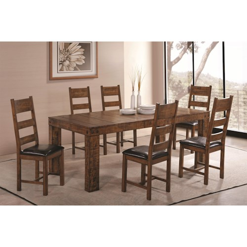 Coaster Murillo 7 Piece Dining Set with Ladder Back Side Chairs