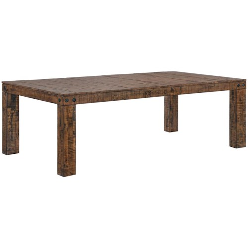 Coaster Murillo Rustic Solid Wood Dining Table with Leaf