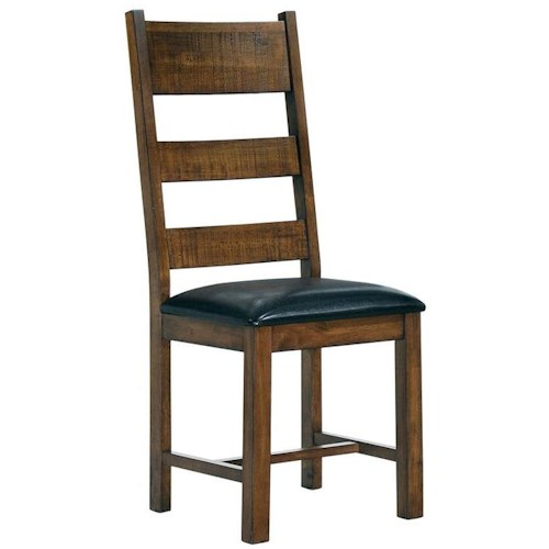 Coaster Murillo Rustic Solid Wood Ladder Back Side Chair