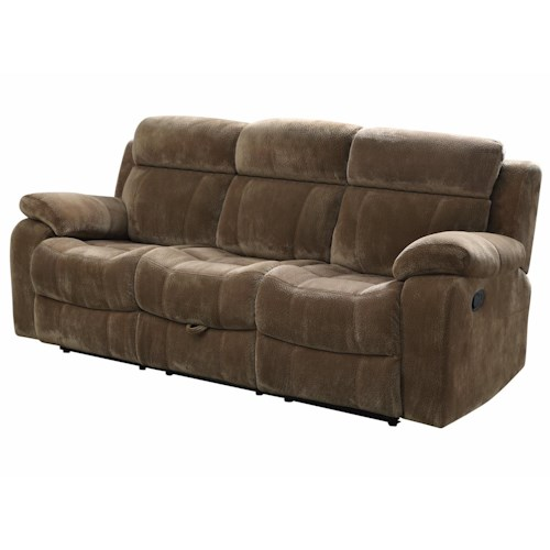 Coaster Myleene Motion Sofa w/ Pillow Arms