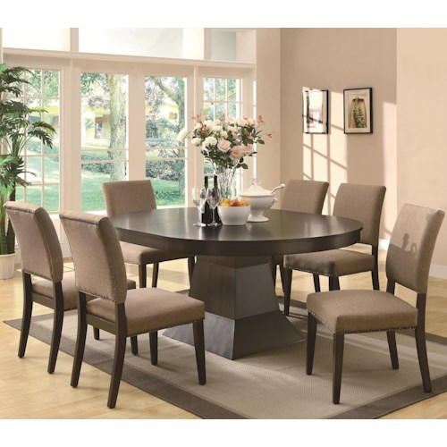 Coaster Myrtle 7 Piece Table and Side Chair Set
