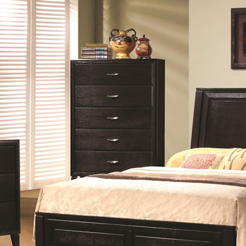 Coaster Nacey 5 Drawer Vertical Bedroom Chest