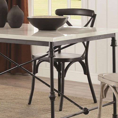 Coaster Nagel Rustic Metal Dining Chair - Black