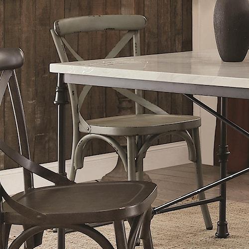Coaster Nagel Rustic Metal Dining Chair - Green