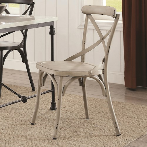 Coaster Nagel Rustic Metal Dining Chair - White