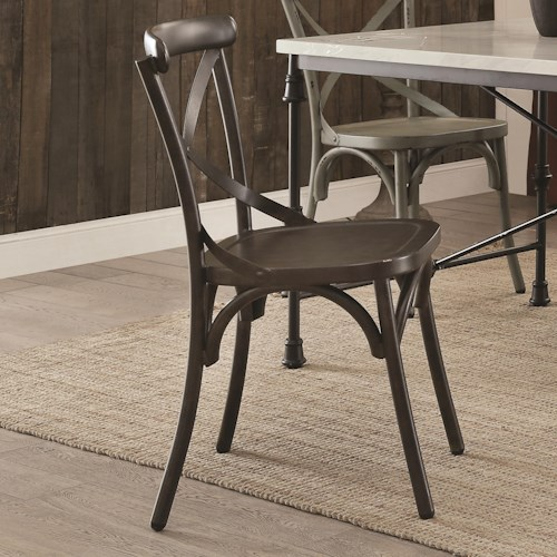 Coaster Nagel Rustic Metal Dining Chair - Antique Brown