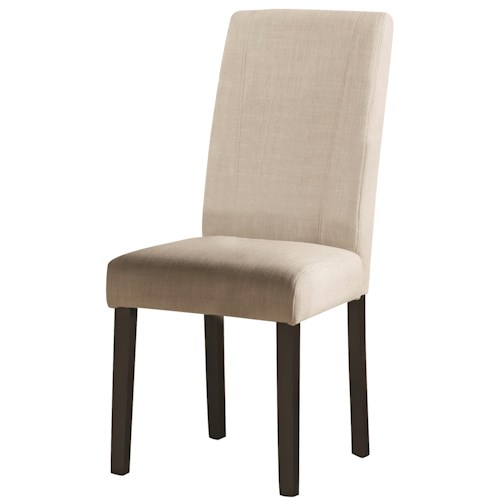 Coaster Nagel Parsons White Fabric Side Chair