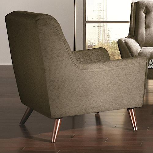 Coaster Natalia Mid-Century Tufted Chair