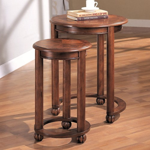 Coaster Nesting Tables 2 Piece Round Nesting Tables