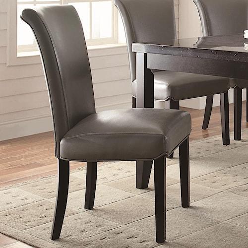 Coaster Newbridge Upholstered Metal Side Chair