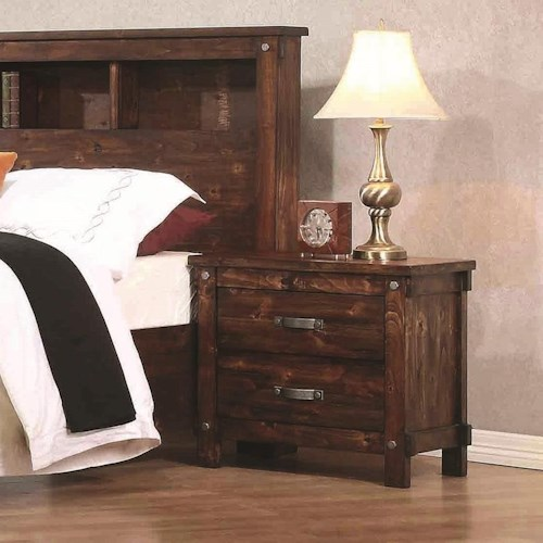 Coaster Noble Night Stand with Two Dovetail Drawers