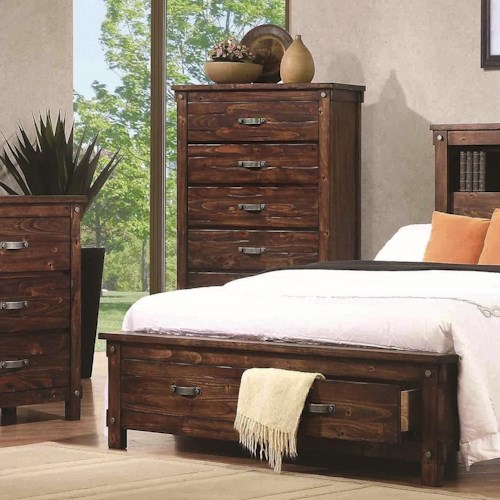 Coaster Noble Chest with Five Dovetail Drawers