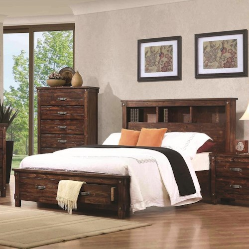 Coaster Noble California King Bookcase Bed