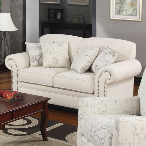 Coaster Norah Traditional Loveseat with Antique Inspired Detail