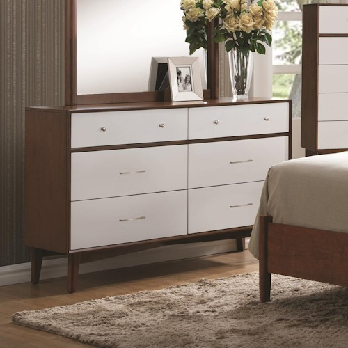 Coaster Oakwood 6 Drawer Dresser