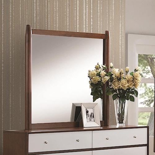 Coaster Oakwood Dressor Mirror with Wood Frame