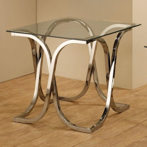 Coaster Occasional Group End Table with Tempered Glass Top