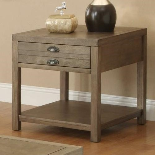 Coaster Occasional Group Cottage End Table with One Drawer