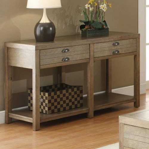 Coaster Occasional Group Cottage Sofa Table with Two Drawers